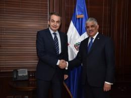 José Luis Zapatero y el canciller Miguel Vargas.