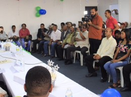 Luis Abinader habla en actividad de Fuerza Viva en Desarrollo.