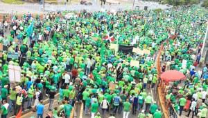 Participantes en una manifestación de la Marcha Verde.
