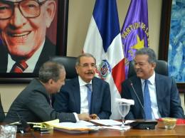 Reinaldo Pared Pérez, Danilo Medina y Leonel Fernández.