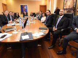 Representantes del Banco Central y del FMI.