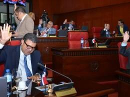 Senadores en discusión del Presupuesto de 2018.