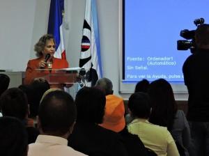 Alexandra Izquierdo, directora nacional de la ONE.