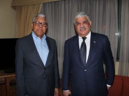 Canciller Miguel Vargas y el embajador Rubén Silié.