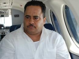 Ernesto Bienvenio Guevara Díaz cuando fue extraditado a Puerto Rico por narcotráfico.