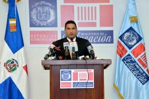 Miguel Medina, vocero de Educación.