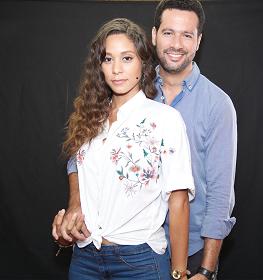 Stephany Liriano y Amauris Pérez protagonistas de la pelicula de Rene Fortunato.