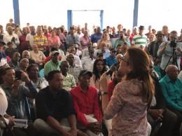 Carolina Mejía promueve sus aspiraciones en PRM.