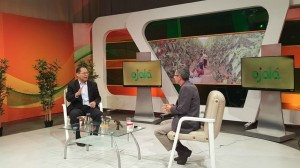 """Luis Vergés, encargado de """"Escuelas de Familias"""" entrevistado en el programa Ojalá, del Canal 4."""