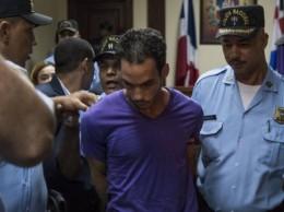 Víctor Alexander Portorreal en la audiencia por cuádruple crimen.