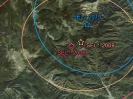 Zona de ensayos nucleares de Corea del Norte.