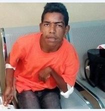 Joven indigente que está en el hospital Ney Arias Lora.